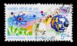 Año internacional de la física 2005, serie de las conmemoraciones, circa 2005 Imagenes de archivo