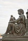 Año 1876. Monumento al escultor alemán Ernst Rietschel.Pede Imágenes de archivo libres de regalías