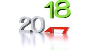 Año Nuevo - 2018 ilustración del vector