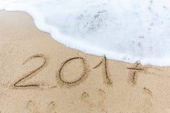 Año Nuevo 2017 Fotografía de archivo libre de regalías