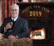 Año Nuevo 2019 Foto de archivo libre de regalías