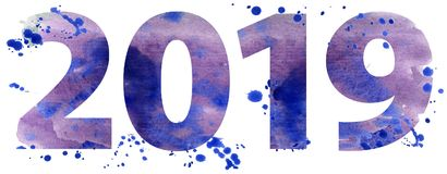 Año Nuevo 2019 ilustración del vector