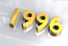 Año Nuevo 1996 en el oro (3D) Foto de archivo