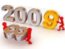 Año Nuevo. 2009 Foto de archivo libre de regalías