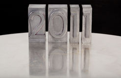 Año Nuevo 2011 en tipo de los lettepress Imagen de archivo