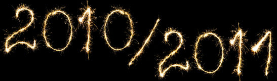 Año Nuevo 2011 y el año venidero Imagen de archivo