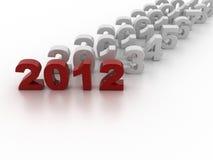 Año Nuevo 2012 ilustración del vector