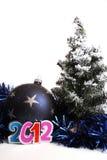 Año Nuevo 2012 y una chuchería Fotos de archivo libres de regalías