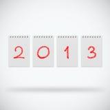 Año Nuevo 2013 ilustración del vector