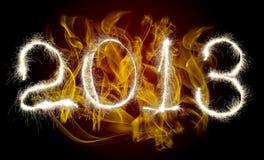 Año Nuevo 2013 de la fecha Imágenes de archivo libres de regalías