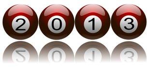 Año Nuevo 2013 en bolas de piscina Imagen de archivo