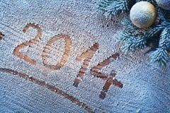 Año Nuevo 2014. Imagen de archivo libre de regalías