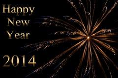 Año Nuevo 2014 Foto de archivo libre de regalías