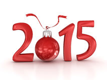 Año Nuevo 2015 ilustración del vector