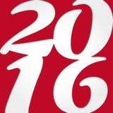 Año Nuevo 2016 Foto de archivo libre de regalías