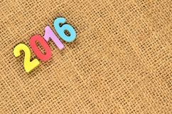 Año Nuevo 2016 Fotografía de archivo libre de regalías