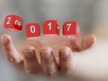 Año Nuevo 2017 Imagen de archivo libre de regalías