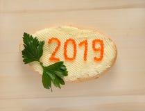 Año Nuevo 2019 Imagen de archivo libre de regalías