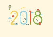 Año Nuevo 2018 libre illustration