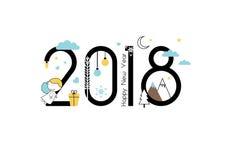 Año Nuevo 2018 ilustración del vector