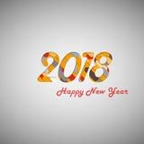 Año Nuevo 2018 Fotografía de archivo libre de regalías
