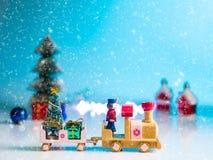 Año Nuevo adornado en el piso blanco Foto de archivo