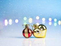 Año Nuevo adornado en el piso blanco Imagen de archivo libre de regalías