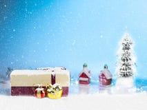 Año Nuevo adornado en el piso blanco Foto de archivo libre de regalías