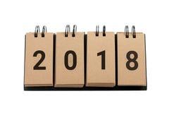 Año Nuevo 2018 aislado en el fondo blanco Fotos de archivo