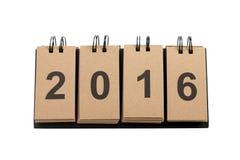 Año Nuevo 2016 aislado en el fondo blanco Foto de archivo