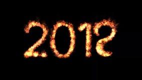 Año Nuevo animado 2018 almacen de metraje de vídeo