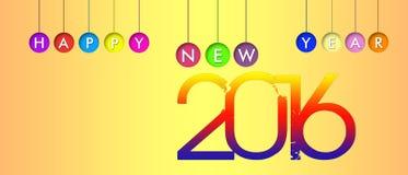 2016, Año Nuevo, bandera Foto de archivo
