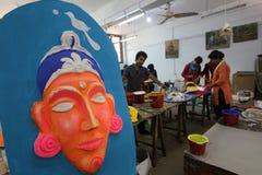 Año Nuevo bengalí 1421: Dacca es humor festivo Fotos de archivo libres de regalías