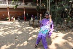 Año Nuevo bengalí 1421: Dacca es humor festivo Imágenes de archivo libres de regalías