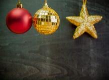 Año Nuevo, bola colgante de la Navidad Imagen de archivo libre de regalías