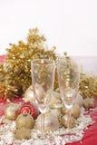 Año Nuevo. Champán Imagen de archivo libre de regalías