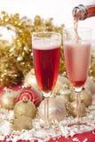 Año Nuevo. Champán Foto de archivo libre de regalías