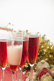 Año Nuevo. Champán Imagenes de archivo