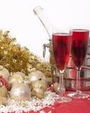 Año Nuevo. Champán Fotografía de archivo libre de regalías