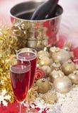 Año Nuevo. Champán Imágenes de archivo libres de regalías