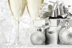Año Nuevo Champán Fotografía de archivo