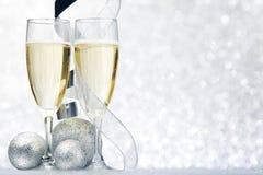 Año Nuevo Champán Imagenes de archivo