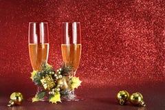Año Nuevo, champán de la tostada Fotografía de archivo libre de regalías