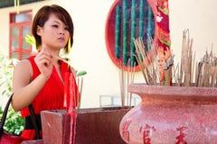 Año Nuevo chino 2012 del templo de Guan Yin Foto de archivo libre de regalías