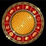 Año Nuevo chino abstracto con el gran icono chino Foto de archivo