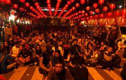 Año Nuevo chino 2566 adentro a solas Foto de archivo