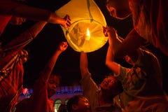 Año Nuevo chino 2566 adentro a solas Fotografía de archivo