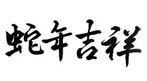 Año Nuevo chino 2013, caligrafía Imágenes de archivo libres de regalías