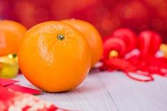 Año Nuevo chino con la naranja Imagen de archivo