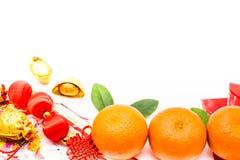 Año Nuevo chino con la naranja Fotografía de archivo